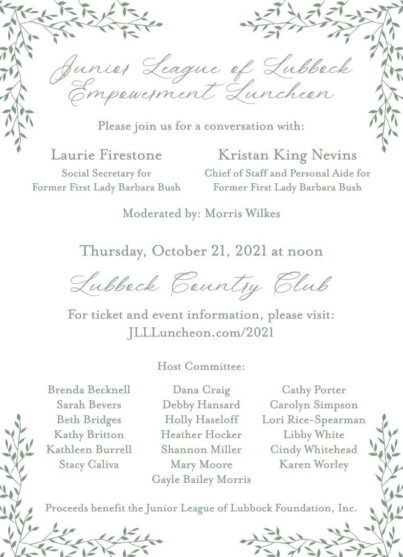 Foundation Empowerment Luncheon Invitation